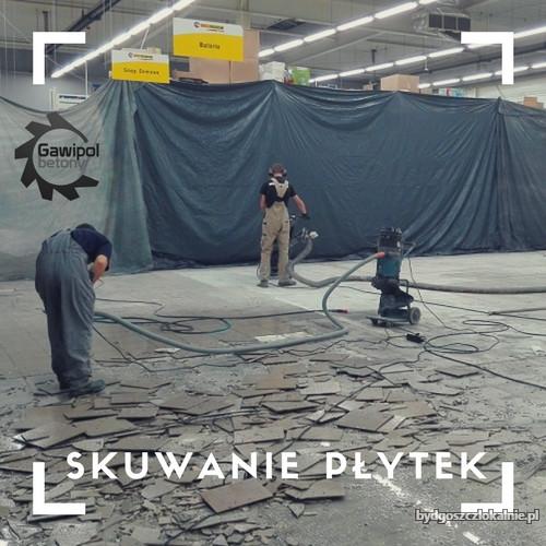 Frezowanie betonu, usuwanie kleju i demontaż płytek Bydgoszcz