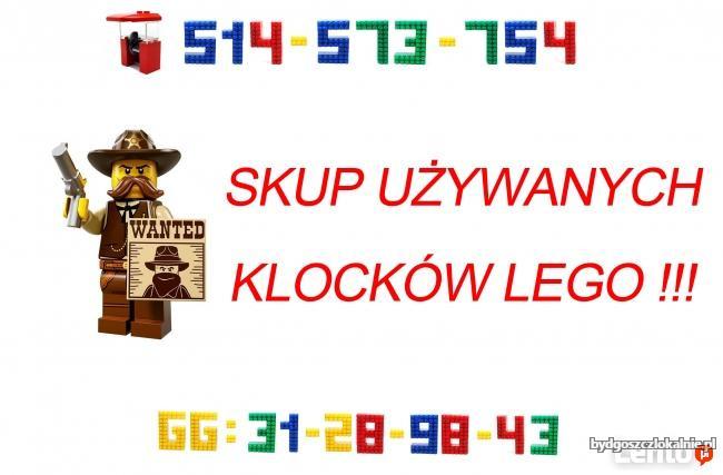 Kupię używane klocki LEGO w cenie 30-35zl za KG